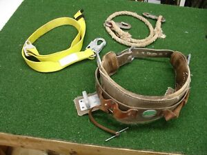 Buckingham Drs Utility Linemans Tree Climbing Body Belt Size Medium extras