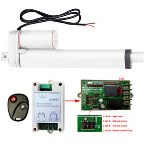 12v 10 Linear Actuator 1500n Dc Motor W Remote Control For Auto Lifting System