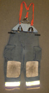 42x30 Globe Pants With Suspenders Firefighter Turnout Bunker Fire Gear P886