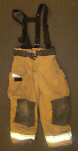 36x30 Pants Suspenders Firefighter Turnout Bunker Fire Gear Globe Gxtreme P888