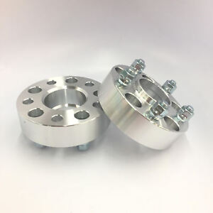 2pc 2 Thick Wheel Spacers 5x4 75 Hubcentric W Lip 7 16 Stud Fits Chevy Buick
