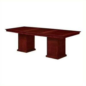 Dmi Del Mar 8 Boat Shaped Conference Table With Column Base In Cherry
