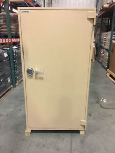 Large Tan Lefebure Bank Safe Used