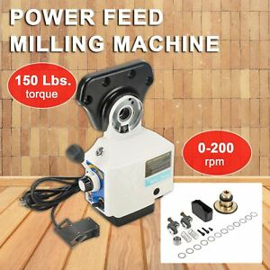 110v Pro 0 210prm Power Table Feed Mill Fits Bridgeport Acer