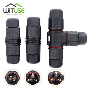 Ip67 Waterproof Connector 2 Pin 3 Pin Electrical Terminal Wire Adapter Set Afe0