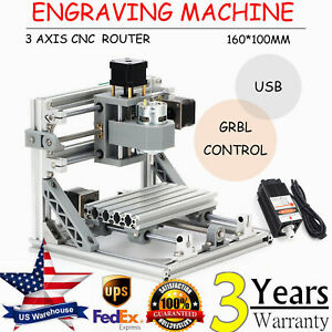 3 Axis Cnc Router Mini Wood Carving Machine 1610 Usb Pcb Milling Grbl Control
