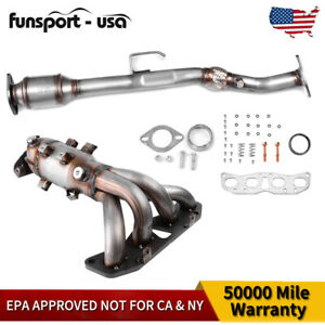 Exhaust Manifold W catalytic Converter 2 5l Fits Nissan Altima 2002 2006 Set