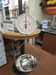 Detecto Hanging Scale Model Mcs 20df With Stainless Steel Bowl 20lbs