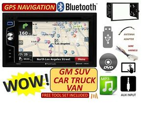 Gm Car Truck Van Suv Gps Navigation Cd Dvd Bluetooth Radio Stereo Double Din Usb