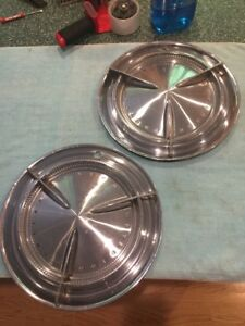 1960 Pontiac Flipper Bar Hubcaps Wheelcovers Catalina Bonneville Rat Rod Custom