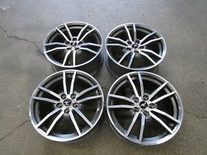 2015 2016 Ford Mustang Gt 18 Wheels Oem Factory Machined Gray Rims Set V18