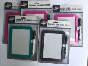 Lot Of 5 Dry erase 6 1 2 X 8 1 4 whiteboard With Marker And Magnet Strips
