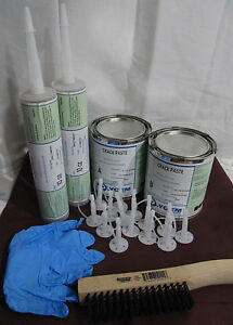 Foundation Crack Repair Kit Diy Urethane Epoxy Injection 16 Fast Setting 2 Qt