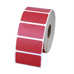 Red 2x1 Direct Thermal Labels Shipping Barcode 1375 Labels P r 6 Rolls