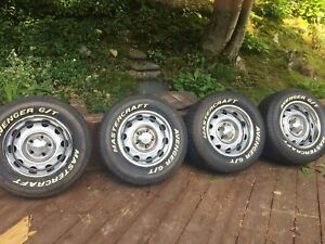 Large Bolt Pattern Mopar Rally Wheels 14inches