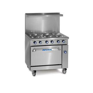 returned Imperial Ir 6 e 36 Electric Restaurant Range With Six Round Elements