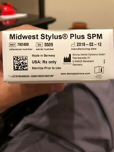 Midwest Stylus Plus Handpiece Dental Brand New In Box Sn 5509 German Made