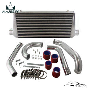 Fits 93 98 Toyota Supra Jza80 Turbo 2jzgte 2jz Bolt On Fmic Intercooler Kit Red