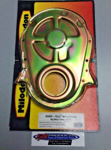 Milodon 65605 Timing Cover For Big Block Chevy Mark 4 Gold Zinc Plate