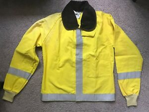 Pgi Firefighter Flame Resistant Jacket Turnout Coat With Liner Size M