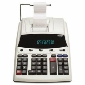 Victor Two color Printing Calculator 12 digit Fluorescent vct12304