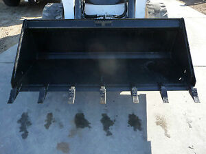 Bobcat Skid Steer Attachment 72 Universal Bucket With Teeth Ship Cost 199