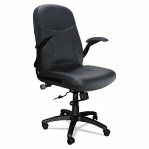 Mayline Big Tall Executive Pivot arm Chair Black Leather mln6446agblt
