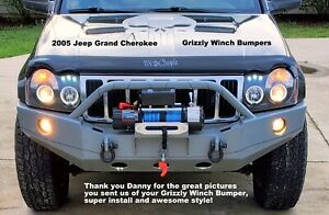 Grizzly Front Winch Plate Bumper For 2005 2007 Jeep Grand Cherokee Wk Raw Metal