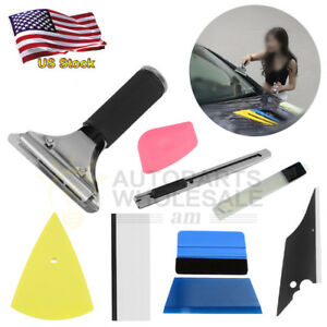 Professional Window Tinting Film Install Tools 8in1 Car Squeegee Scraper Kit Car