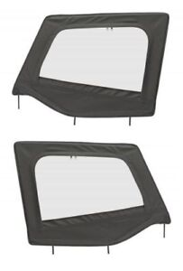Jeep Wrangler Yj 88 95 Upper Half Door Skins W Frames Black Pair 89415