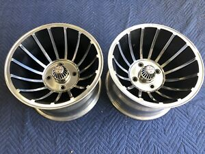 Vintage Pair 2 15x10 Turbine Hurricane Vector Mag Wheel Vw 4 On 130 Manx Dune