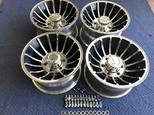 Vintage 15x8 5 Real Western Turbine Mag Wheels 6lug Gm Chevy Blazer Restored