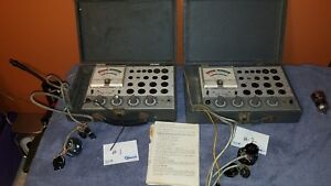 Lot Of 2 Accurate Instrument Co Model 257 Tube Testers working