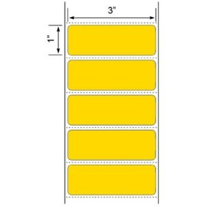 Yellow 3 X 1 Zebra Compt Direct Thermal Shipping Labels 20 Rolls 1375 roll