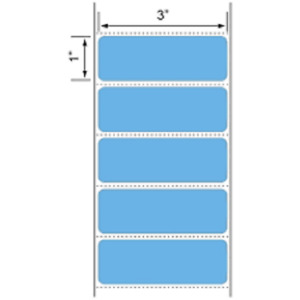 Blue 3 X 1 Zebra Compt Direct Thermal Shipping Labels 6 Rolls 1375 roll