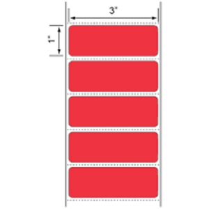 Red 3 X 1 Zebra Compt Direct Thermal Shipping Labels 6 Rolls 1375 roll
