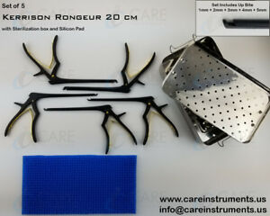 Kerrison Rongeurs 20 Cm 1mm 5mm With Sterilization Box Silicon Mat Orthopedic