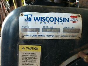 Wisconsin Vh4d Engine 30hp