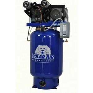 7 5 Hp V4 Single Phase 120 Gallon Vertical Air Compressor