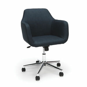 Office Furniture Fabric Upholstered Desk Chair With Chrome 5 star Base