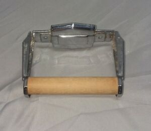Vintage Antique Chrome Toilet Paper Tissue Holder Mid Century Fairfield 137 18 F