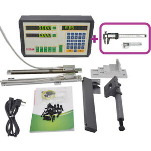 2 Axis Dro digital Readout Magnetic Scale Kit For Milling lathe Machine Usa