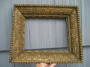 Antique Eastlake Victorian Extreme Ornate Deep Picture Frame As Found 8 X 10