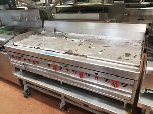 Magikitch n 60 Stainless Steel Commercial Countertop Natural Gas Griddle Mkg 60