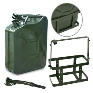 5 Gallon Gas Can Metal Jerry Gasoline Container W Mount Emergency 20 Liter Tank