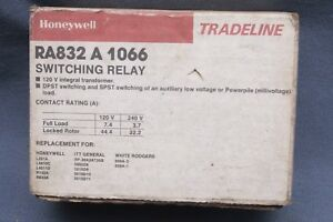 Honeywell Ra832a1066 Switching Relay Dpst switching 2 Wire low Volt Control Nos