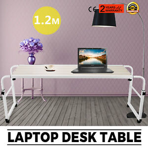 1 2m Laptop Table Food Tray Desk Home Movable Mobile Lockable Casters Promotion
