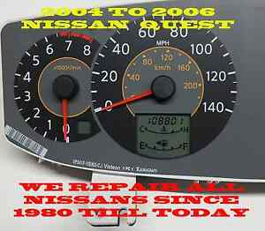 2005 Nissan Quest Instrument Cluster Software Odometer Calibration Service