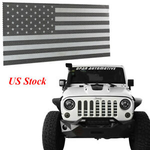 Usa Flag Metal Front Mesh Grille Inserts For 07 18 Jeep Wrangler Jk