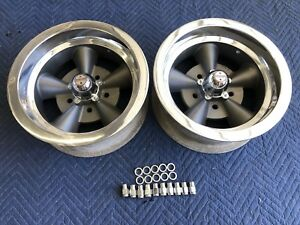 Vintage Pair Of Mark 11 5 Spoke Torque Thrust Style 14x6 4 3 4 Chevy Hotrod
